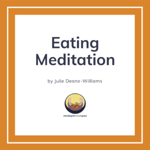 Minding the food space | Eating Meditation